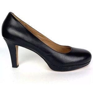 CLARKS 12 M Delsie Bliss leather classic heel pump